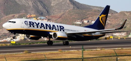 Ryanair van Eindhoven naar Tenerife