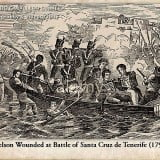 Admiraal Nelson gewond in 1797