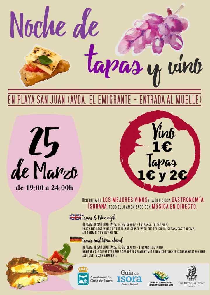 Noche de Tapas y Vino in Playa San Juan, Guía de Isora