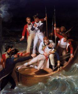 Herdenking La Gesta - schilderij waar Admiraal Nelson gewond raakt